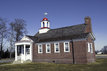 old brick schoolhouse in rural Delaware