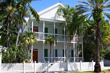 house in Key West, Florida with porches and window shutters