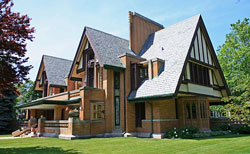 illinois home designed by frank lloyd wright