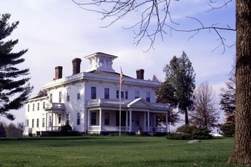 historic mansion in rural Indiana