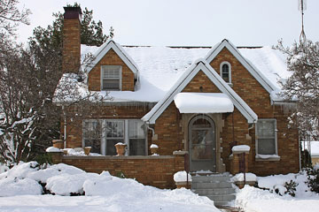 snow-covered house in Michigan