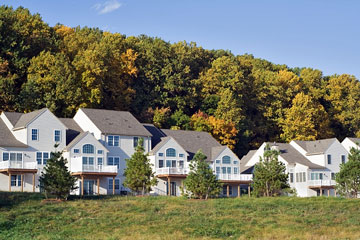 upscale housing development on a Pennsylvania hillside