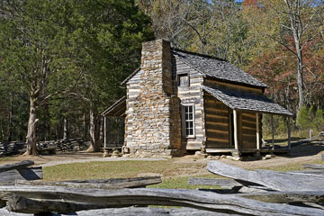 old cabin in the Tennessee mountains