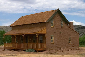 ghost town house, Grafton, Utah