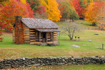 old cabin in the Virginia hills
