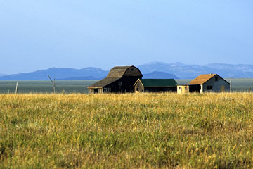 wyoming ranch house and outbuildings